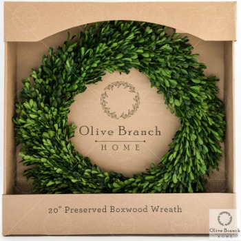farmhouse christmas boxwood wreath