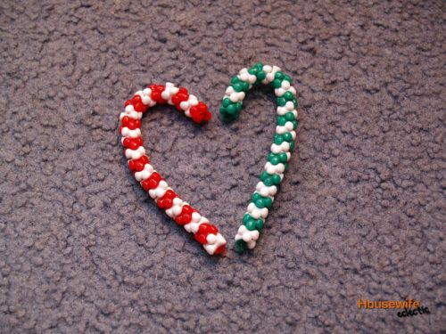 candy cane bead christmas ornament