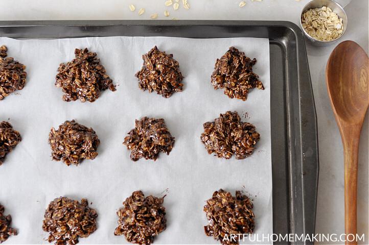 chocolate no-bake cookies with honey