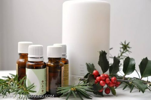 winter essential oil diffuser blends