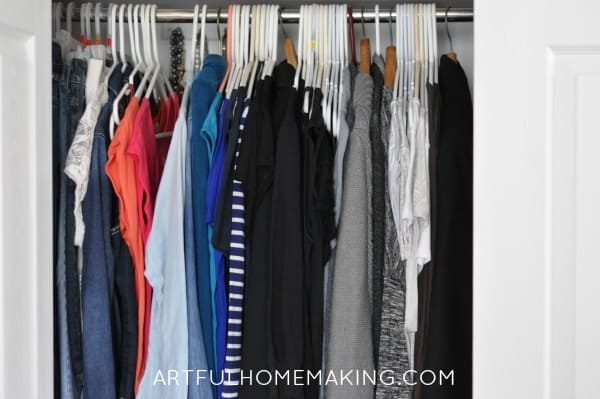 the konmari method for organizing clothing