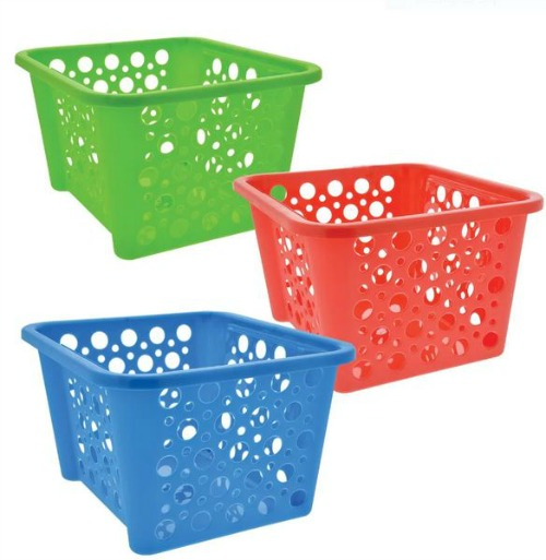 dollar store stackable baskets