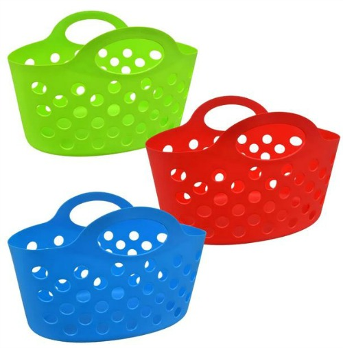 colorful dollar store storage totes