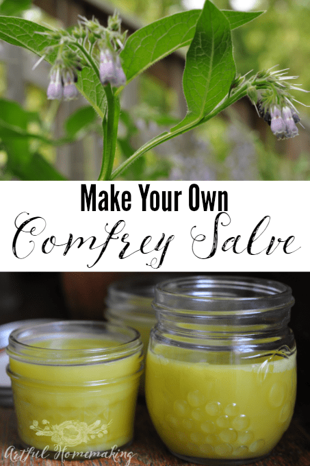 How to make your own comfrey salve, with this simple tutorial!