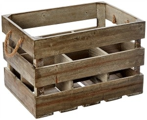 farmhouse crate organization