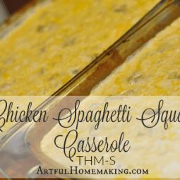 Trim Healthy Mama Chicken Spaghetti Squash Casserole