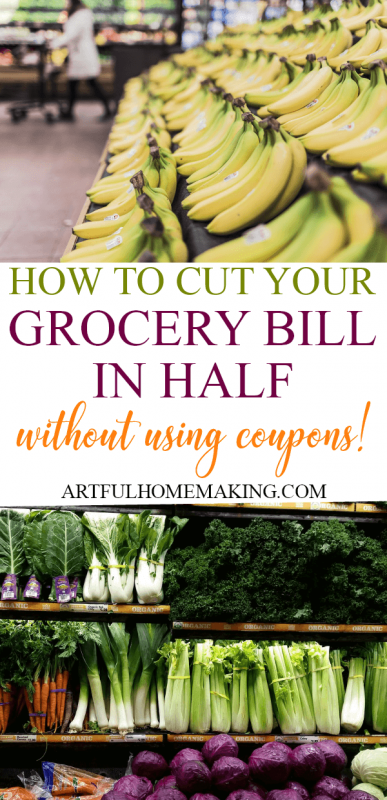How We Cut Our Grocery Bill in Half without using coupons!