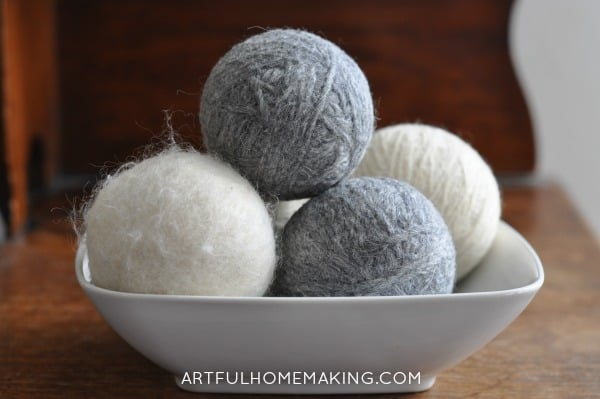 diy homemade wool dryer balls