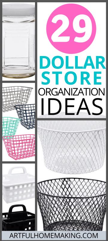 29 Dollar Store Organization Ideas