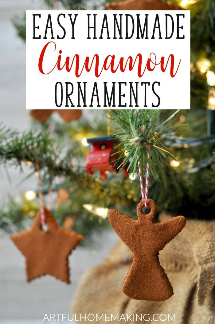 Have fun making these Easy Handmade Cinnamon Ornaments this Christmas! They make great handmade gifts!