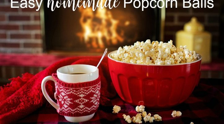 Easy 3 Ingredient Homemade Popcorn Balls