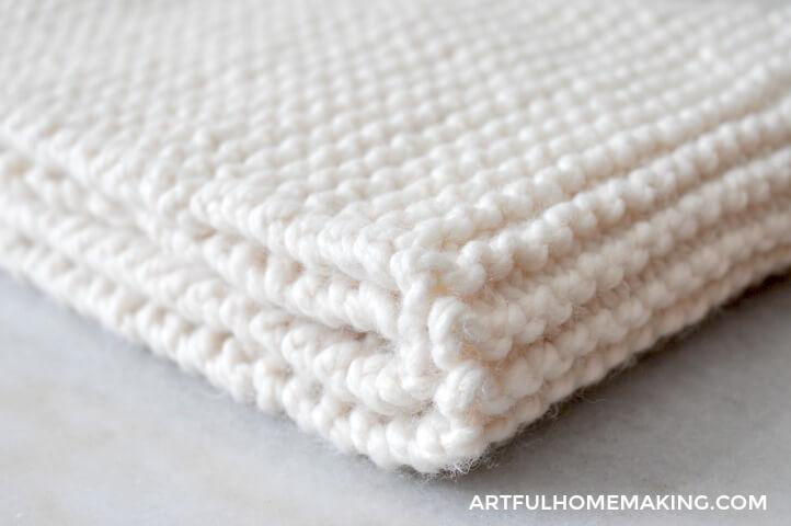folded knit cowl