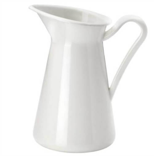 farmhouse enamelware pitcher