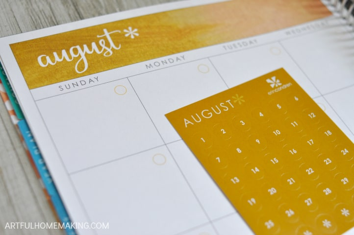 erin condren colorful calendar stickers