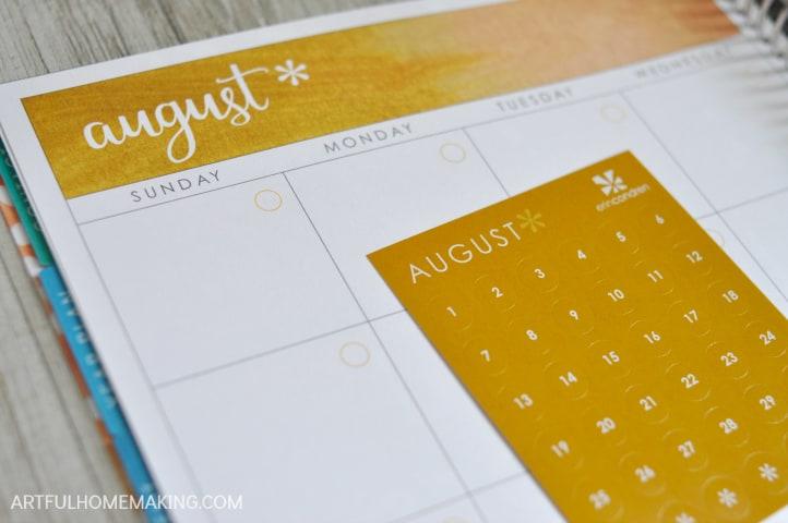 erin condren colorful calendar stickers