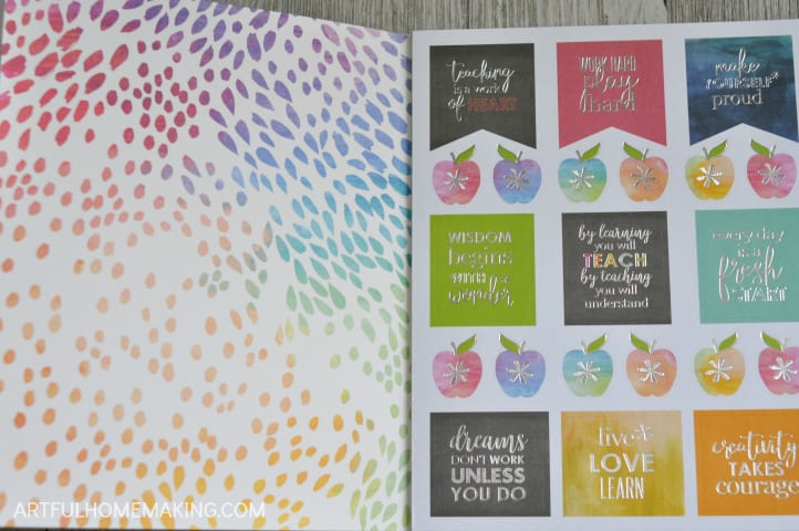 erin condren cool for school stickers