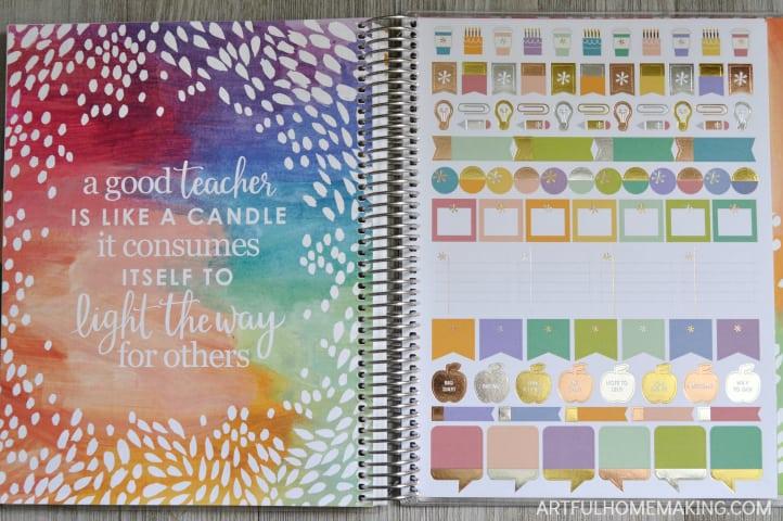 erin condren teacher planner stickers