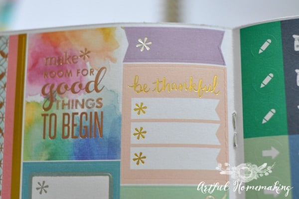 I love how colorful the completed calendars are: