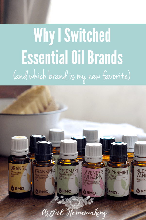 Why I Switched Essential Oil Brands Artful Homemaking