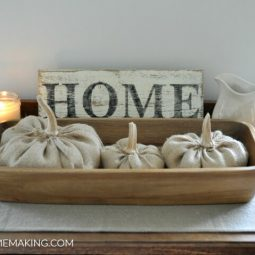 How to Make Burlap Pumpkins for Rustic Fall Decor