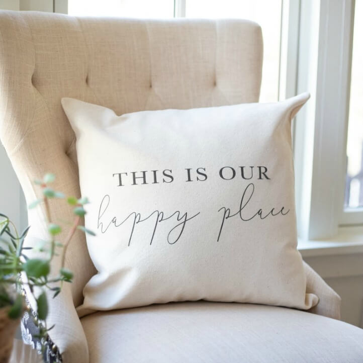 cozy home farmhouse chair pillow