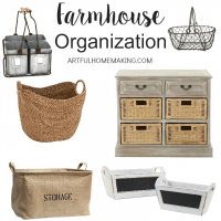 Perfect farmhouse style storage solutions!