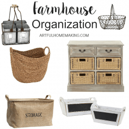 Farmhouse Style Organization and Storage Solutions