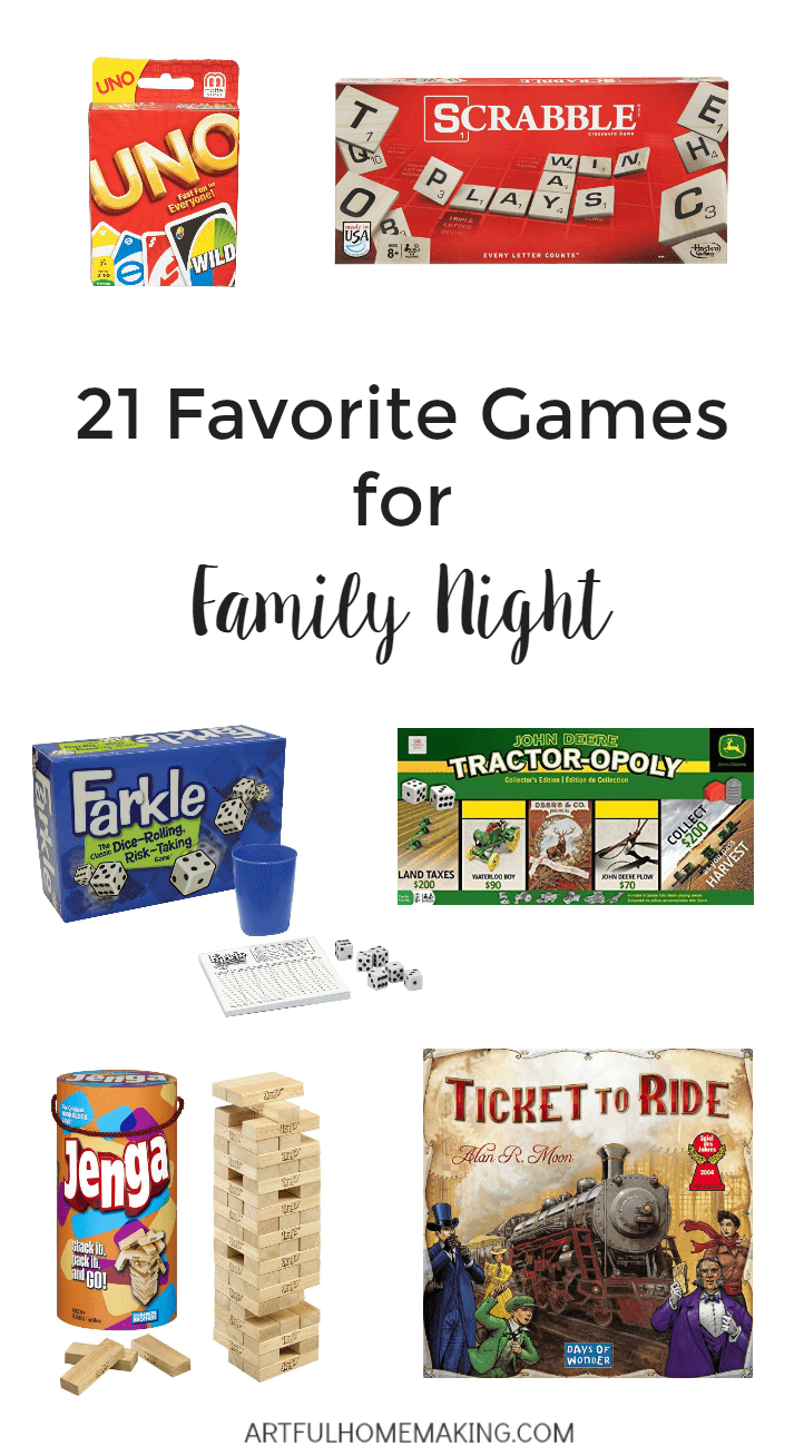 Try some of these games to make your next family night memorable!