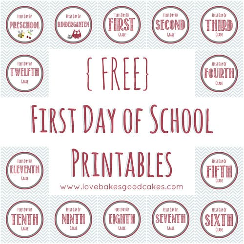 8 back to school free printables