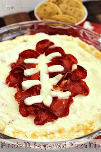 football pepperoni pizza dip