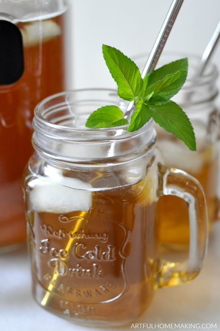 easy fresh mint tea tutorial