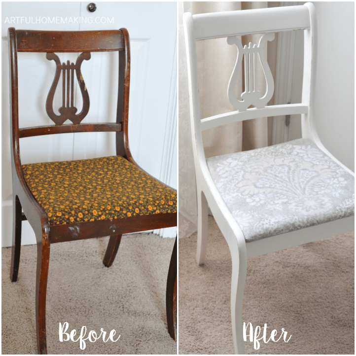 mineral paint chair makeover