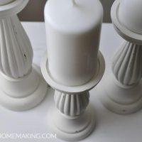 Farmhouse Fusion Mineral Paint Candlesticks