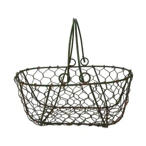 farmhouse style organizing with baskets