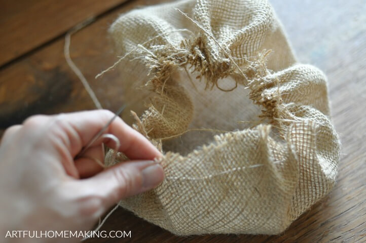 how to make burlap pumpkins