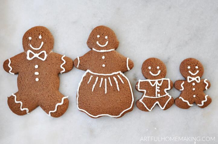 healthy gingerbread man cookies
