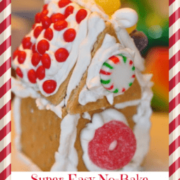 Super Easy No-Bake Gingerbread Houses