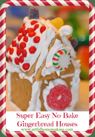 no-bake gingerbread houses