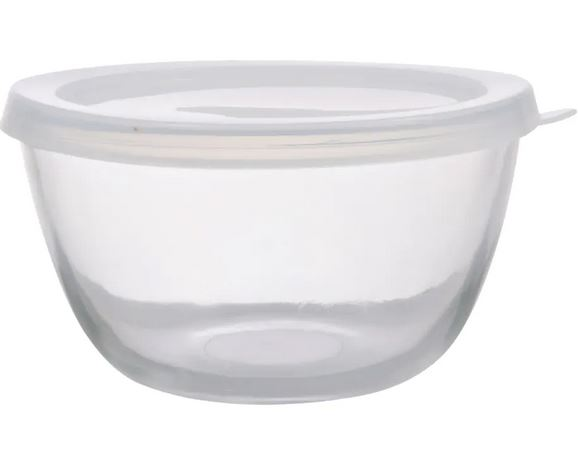 dollare store glass storage bowl with lid