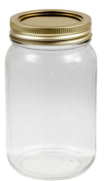 dollar store glass storage jar