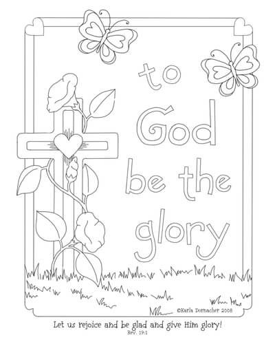 gods glory spring easter coloring page