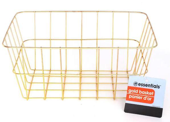 dollar store gold metal storage basket