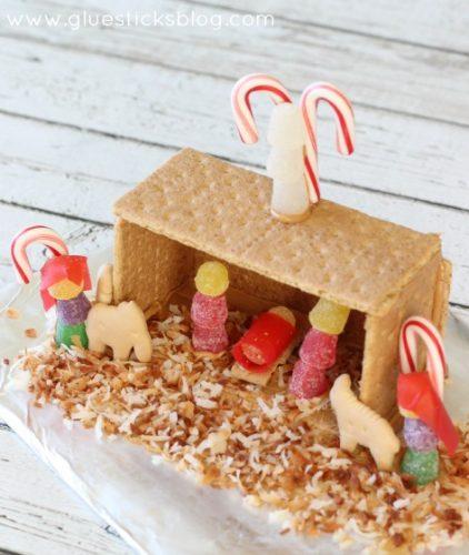 graham cracker candy nativity scene craft