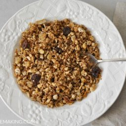 Easy Grain Free Granola Recipe   Healthy Breakfast