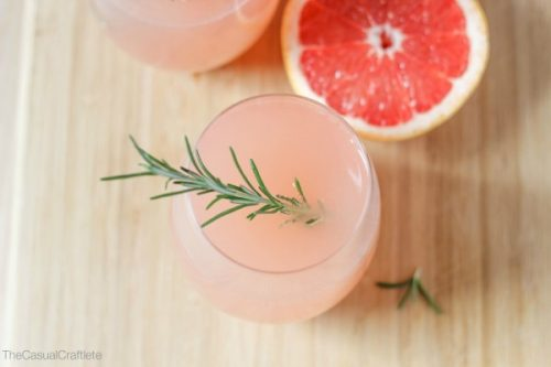 grapefruit rosemary mocktail