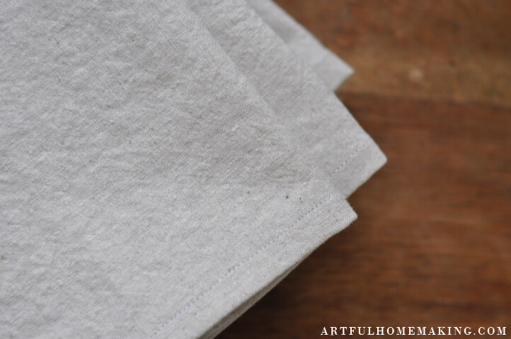 linen cloth napkins tutorial