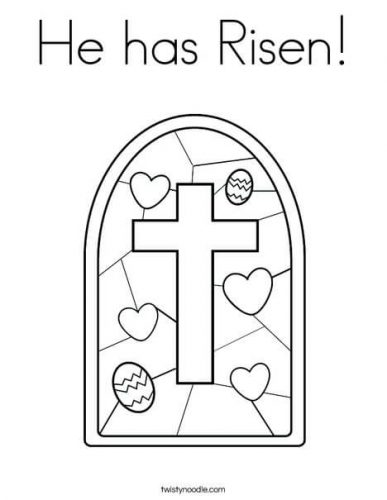 christian easter coloring page