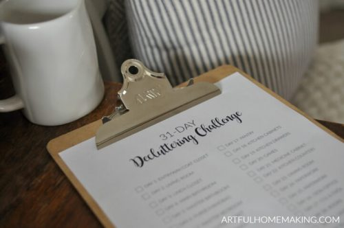 31-day home decluttering challenge