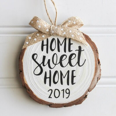 home sweet home farmhouse ornament