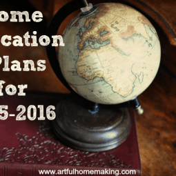Home Education Plans for 2015-2016